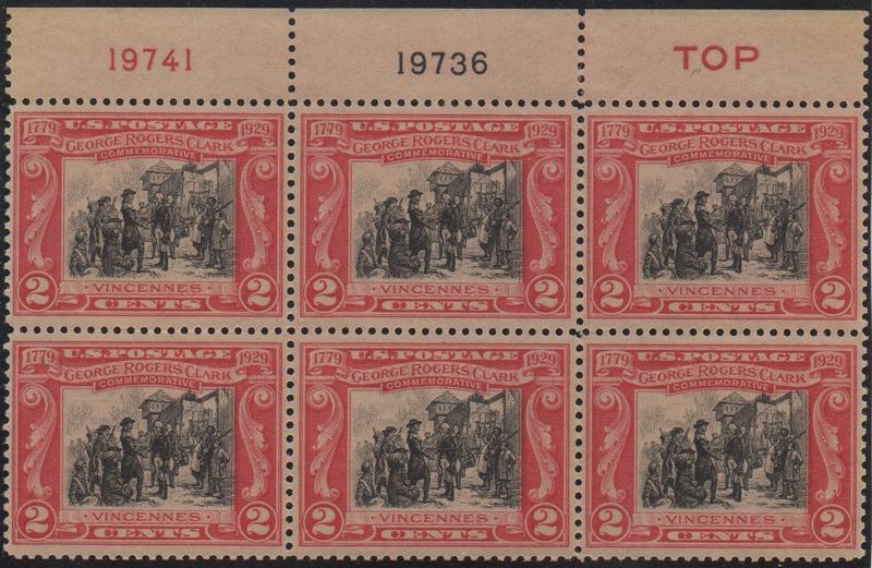 George Rogers Clark 651 Plate Block